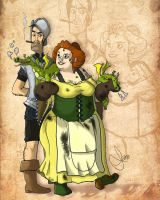 Vimes and Lady Sybill by vimfuego