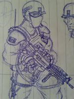 Canadian SpecOps Sketch by Spacebomb666