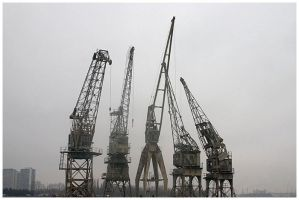 antwerp cranes 2 by damnengine