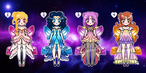 Princess Sailors Batch Adoptables CLOSED by YukiMiyasawa