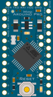 'Arduino(R)'-like Pro Mini Clipart by adlerweb