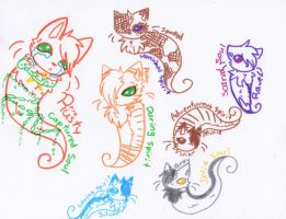 More Spirit Cats! =3 by Snowstorm102