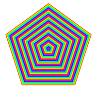 168 pentagons 24 color by 10binary