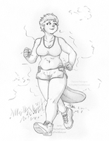 Brooke's Morning Jog by TheTiedTigress