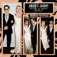 Photopack 0540 - Amber Heard y Johnny Depp by WhateverPhotopackss