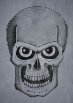 Skull with eyes by FrankSamuRai