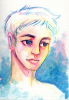 Watercolor Face by accasperberry3