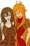 Cera and Sarah BFF WIP by JnAsBy123