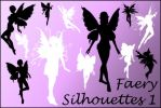 Faerie Silhouette Brushes 1 by joannastar-stock