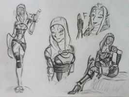 sketches Tali (77) by spaceMAXmarine