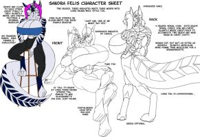 Sandra Felis Character Sheet by strredwolf