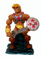 Classic He-Man Statue by planetbryan