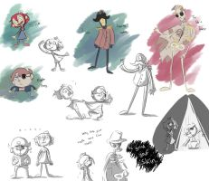 Candle Cove sketchdump by CandyClouds22