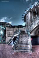 Darling Harbour Sunrise - Stairs by Lori-P-Photography