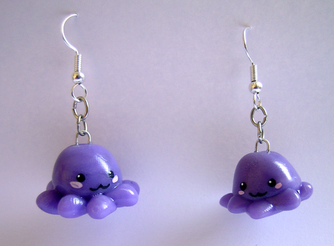 octopus earrings by estwen