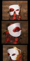 Floating Lily Leather Mask by Majiran