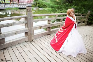 Code Geass, Nunnally - In the Japanese Garden by Kurai-Hisaki