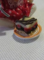 Donauwelle Cake Bar made of Polymer Clay by Aya-no-Shrink-Ray