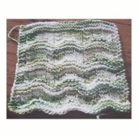 Wavy dishcloth by Wendifer