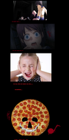 the evil  sing pizza! by zacharyleebrown