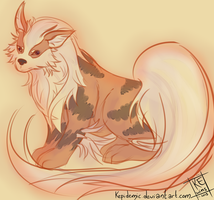 Arcanine Sketch by Kepidemic