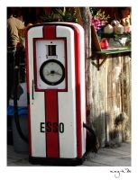 Vintage petrol pump by nay-k