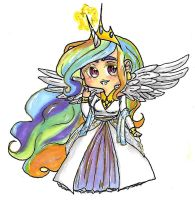 Princess celestia sticker by singingcatartist12