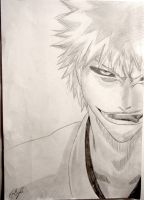 Hollow Ichigo - Bleach Volume 25 cover drawing by Lemon-Yelloww