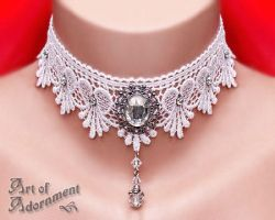 Argenta Snow Queen Lace Choker by ArtOfAdornment