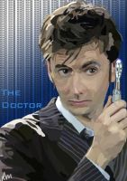 David tennant as The Doctor by Silver-Birch
