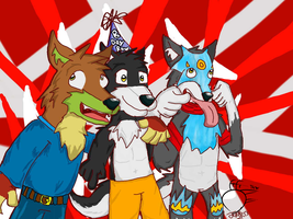 B-day Gift for Albatross (late) The Wolf Pack :P by DougFluff345