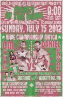 WWE Money in the Bank '12 Lucha Flyer by PaulGriffin