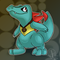 PMD Partner Totodile by Chico-2013
