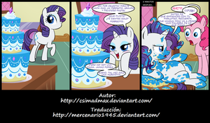 Rarity y el Pastel by mercenario1945