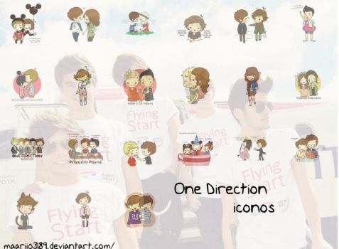 One Direction Iconos by maarii03189