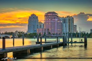 West-Palm-Beach-Skyline-at-the-Waterway by CaptainKimo