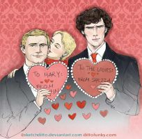 A Sherlockian Valentine by sketchditto