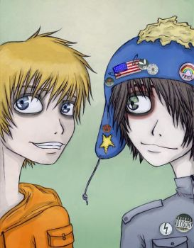 Badass Craig and Kenny XD by Zombie-Pip