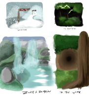 More Backgrounds - Inspired By Zelda by K-ger