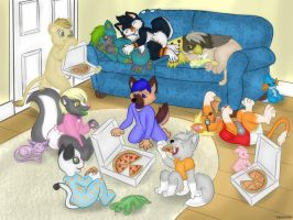 Pizza Party! by tugscarebear