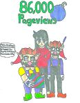 86,000 Pageviews by MarioSonicMoon