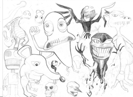 monster scetch by rubbe