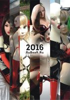 RubberDoll calendar for 2016 by latex-rat