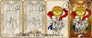 19 The Sun - Tarot Card WIPS! by Cupcakes-lover