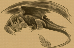 Toothless - Nap Time Sketch by Stalcry