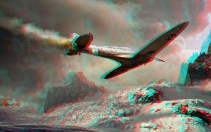 Spitfire 3D Conversion Anaglyphe Rouge Cyan by Fan2Relief3D