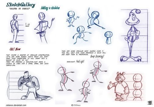 Tutorials by celaoxxx on deviantart for Cartoon body tutorial