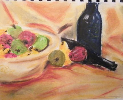 Still Life study in Pastel by SayuriTerachi