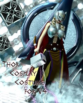 Thor cosplay Costume for V4. by Terrymcg