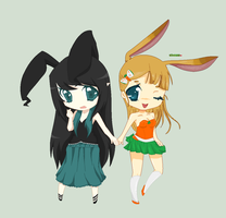 Bunny collab by cheese-drop